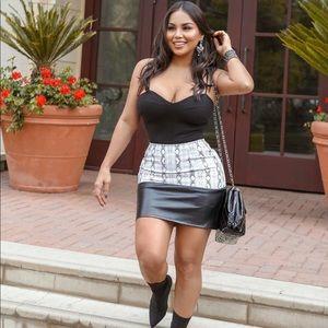 Black Snake Mini Skirt 🖤